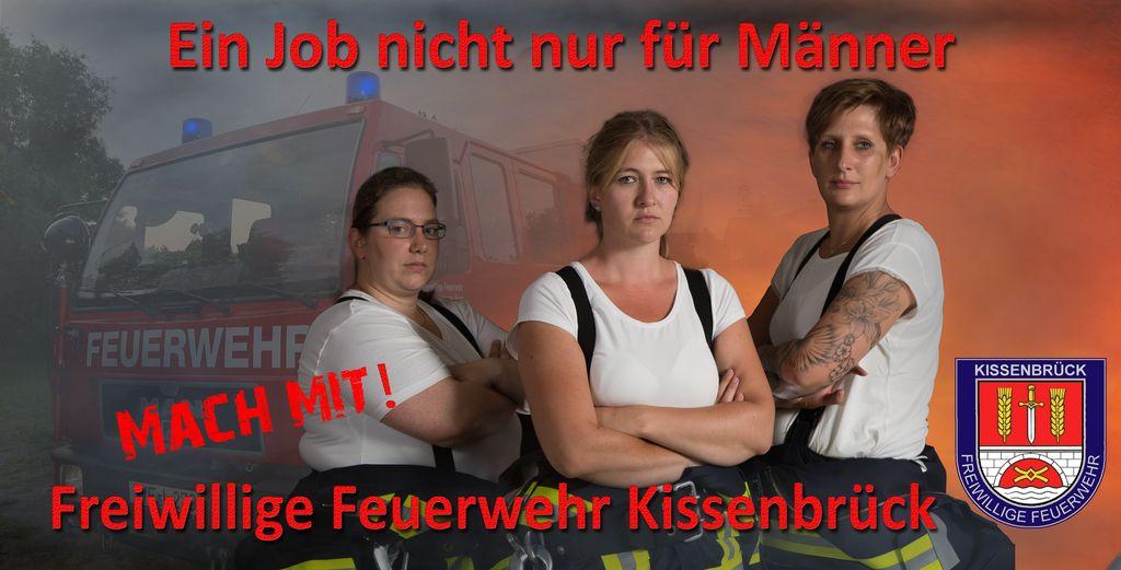 Banner Frauen bei der FFW Kissenbrück